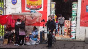 Martin beim Dreh in La Paz