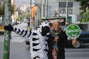 La Paz Kerstin mit Zebra