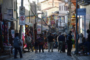 La Paz Touristen in der Touristenzone