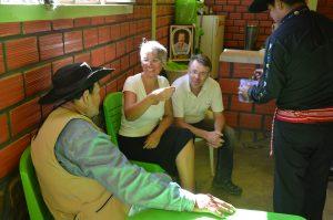 Tarija San Lorenzo Gespräch mit Don Fernando