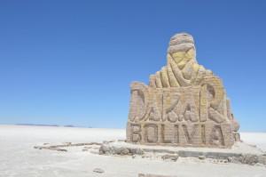 Uyuni Wahrzeichen der Dakar Ralley